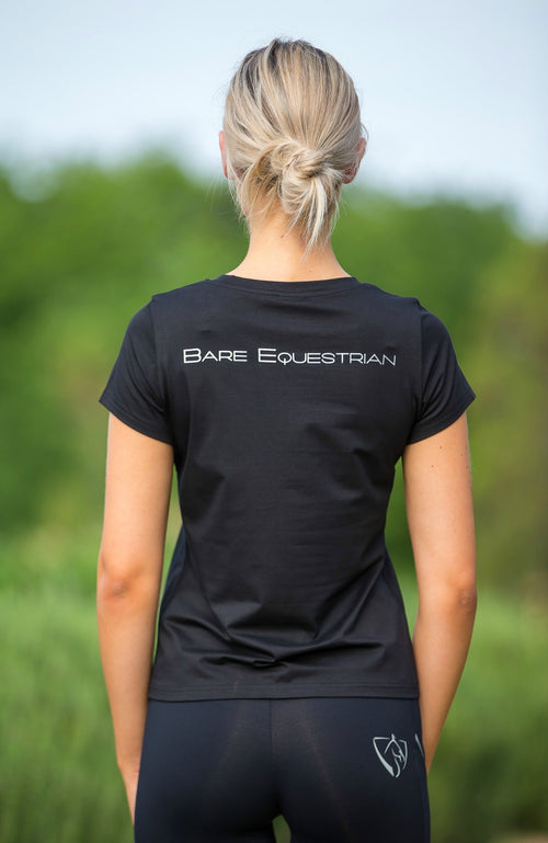 BARE Logo Riding T-Shirt - Black