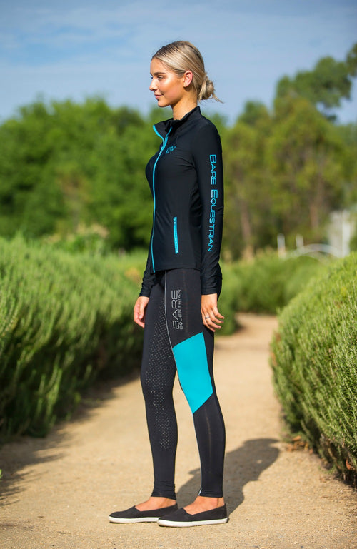 No Grip BARE Performance Tights - REFLECTIVE Teal