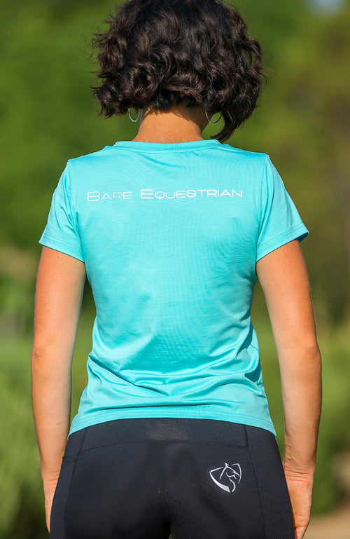 BARE Logo Riding T-Shirt - Teal