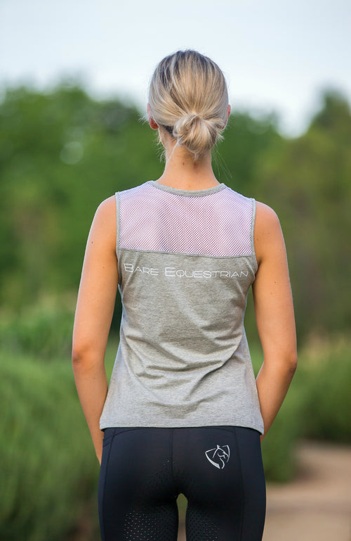BARE Tank Top - Grey/White