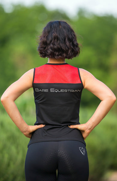 BARE Tank Top - Black/Red