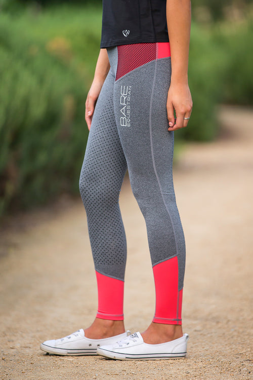 No Grip BARE Performance Tights - Grey Peachy