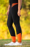 Youth Performance Riding Tights - Valencia (Orange will FADE)