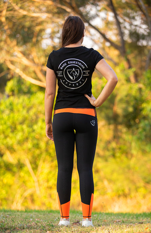 BARE Performance Riding Tights - Valencia (Orange will FADE)
