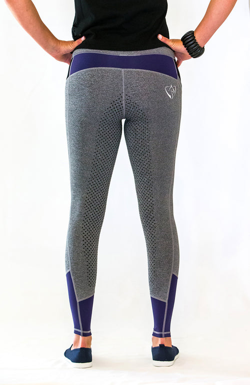 No Grip YOUTH Riding Tights - Blue Steel