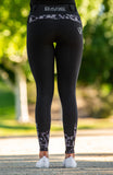 Youth Performance Riding Tights - Black Betty