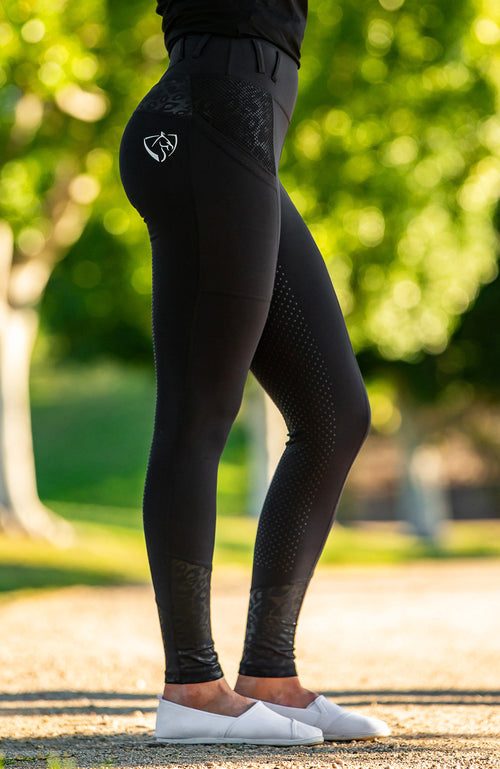BARE Performance Riding Tights - Black Cat