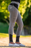 BARE Performance Riding Tights - Grey Camouflage