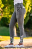 Youth Performance Riding Tights - Neon Jungle