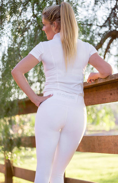 No Grip BARE Riding Tights - Snow White