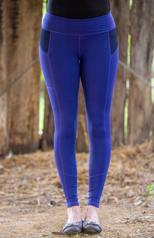 No Grip BARE Performance Tights - Violet Navy