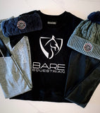 BARE Logo Sweater - Black (Silver Logo)
