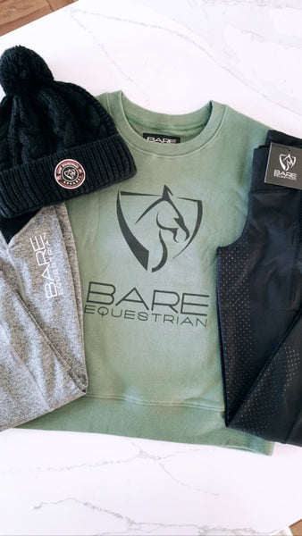 BARE Logo Sweater - Military (Black Logo)
