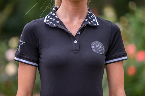 BARE Star Polo Shirt - Black & White