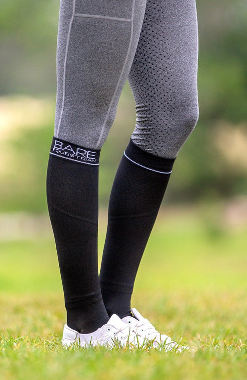 BARE Logo Compression Sock - Black Adults