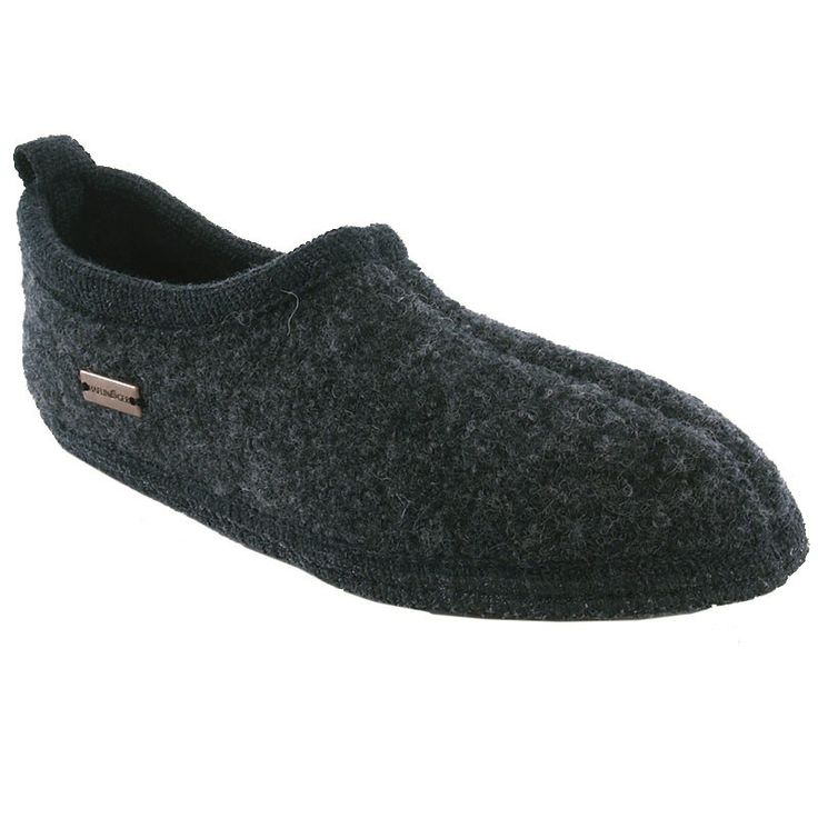 HAFLINGER - FREDDIE CLOSED HEEL - GREY - SLIPPER - UNISEX