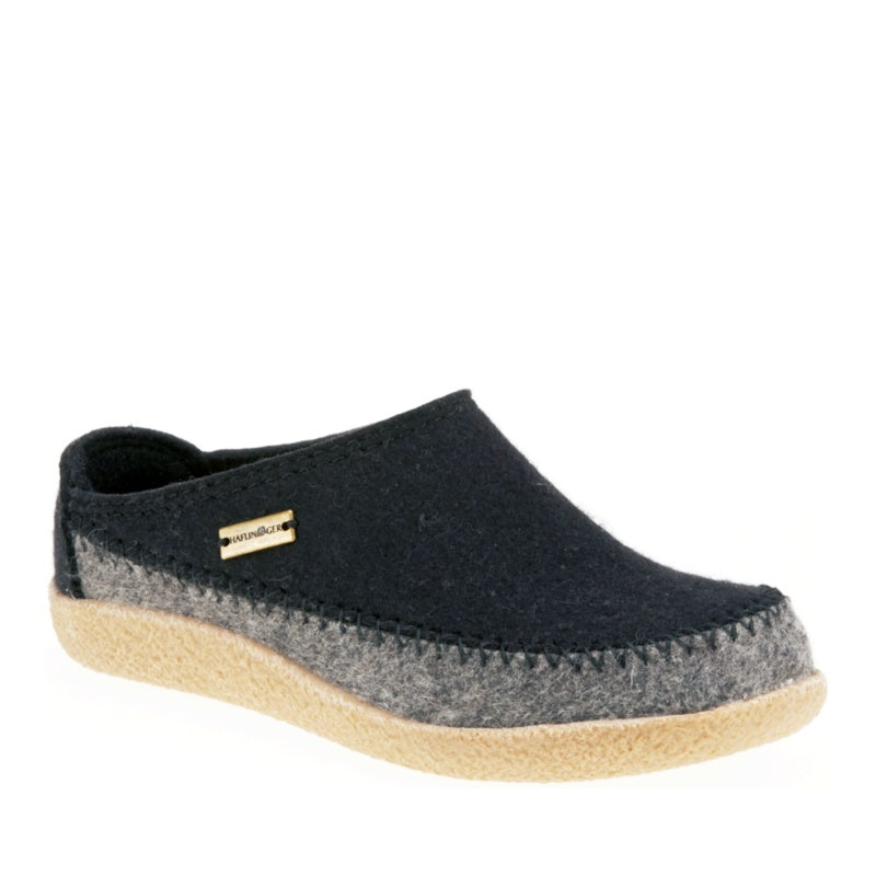 HAFLINGER- FLETCHER - BLACK SLIPPER - UNISEX
