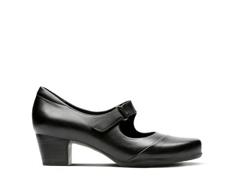 Roselyn Wren Black Leather - Clarks