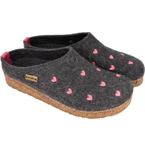 HAFLINGER - GRIZZLY CUORICINI GREY - SLIPPER