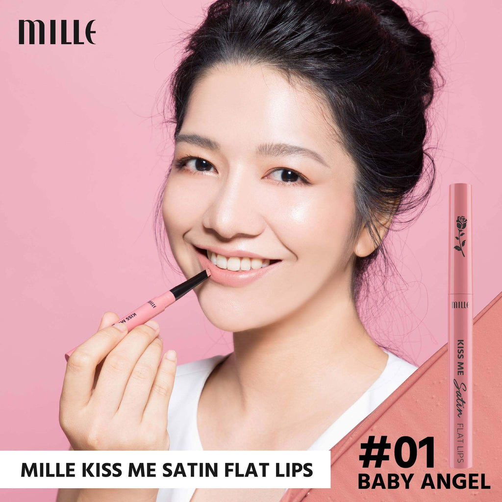 MILLE KISS ME SATIN FLAT LIP  #01 Baby Angel