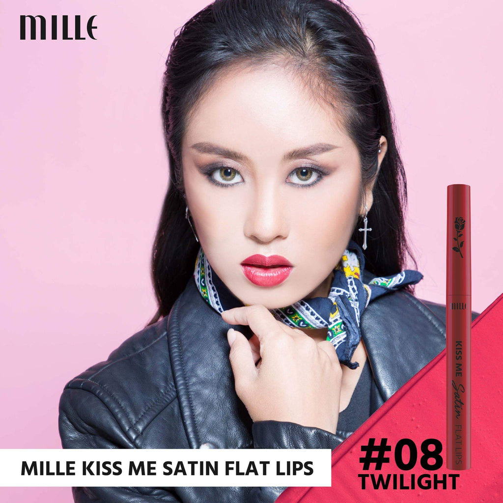 MILLE KISS ME SATIN FLAT LIP  # 08 Twilight