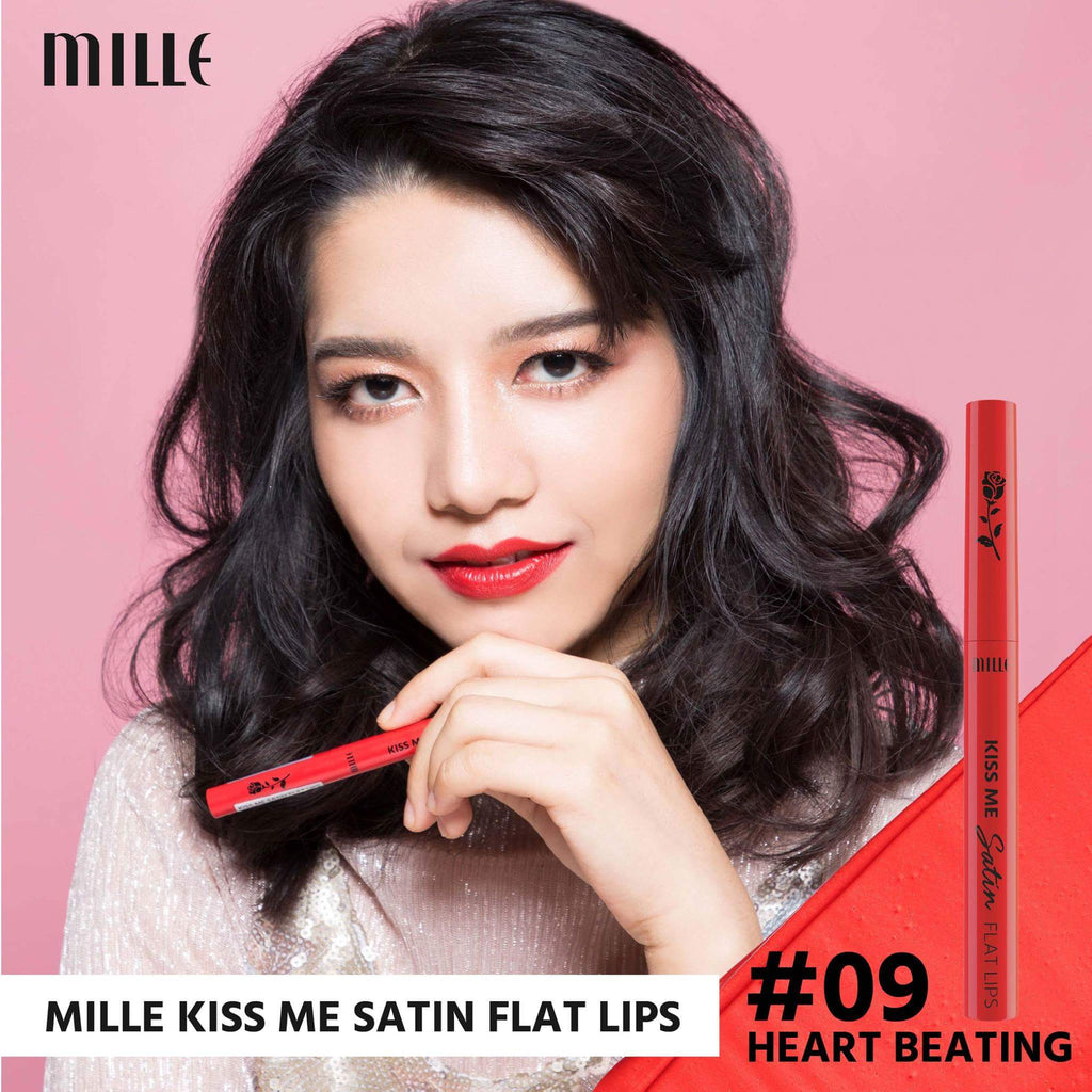 MILLE KISS ME SATIN FLAT LIP  #09 Heart Beating