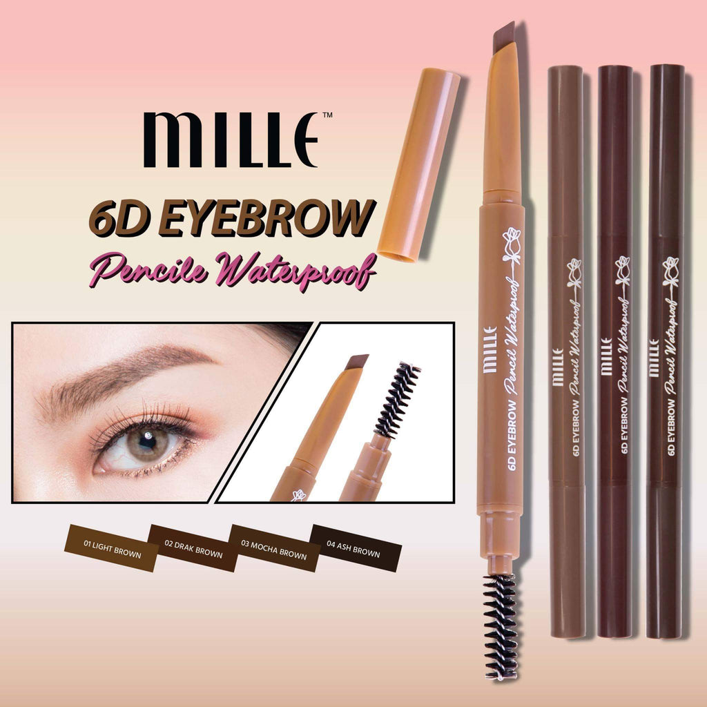 MILLE 6D Eyebrow Pencil Waterproof