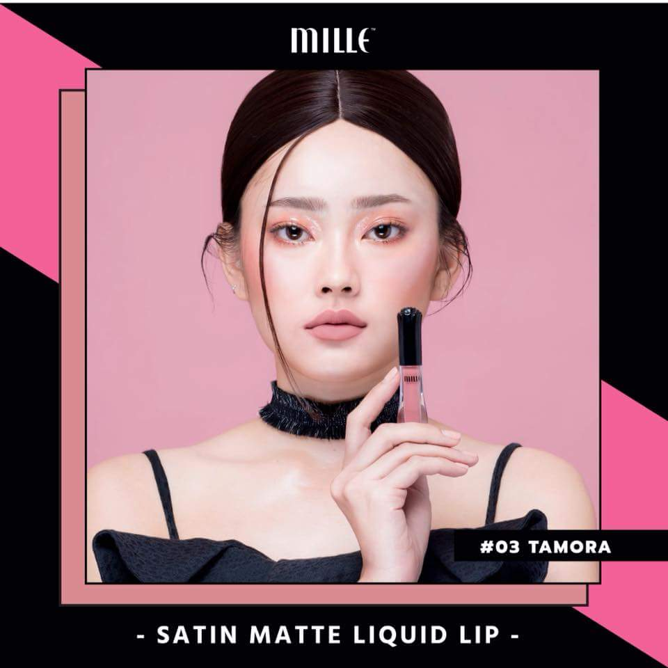 MILLE NEW Satin Matte Liquid Lip #03 Tamora