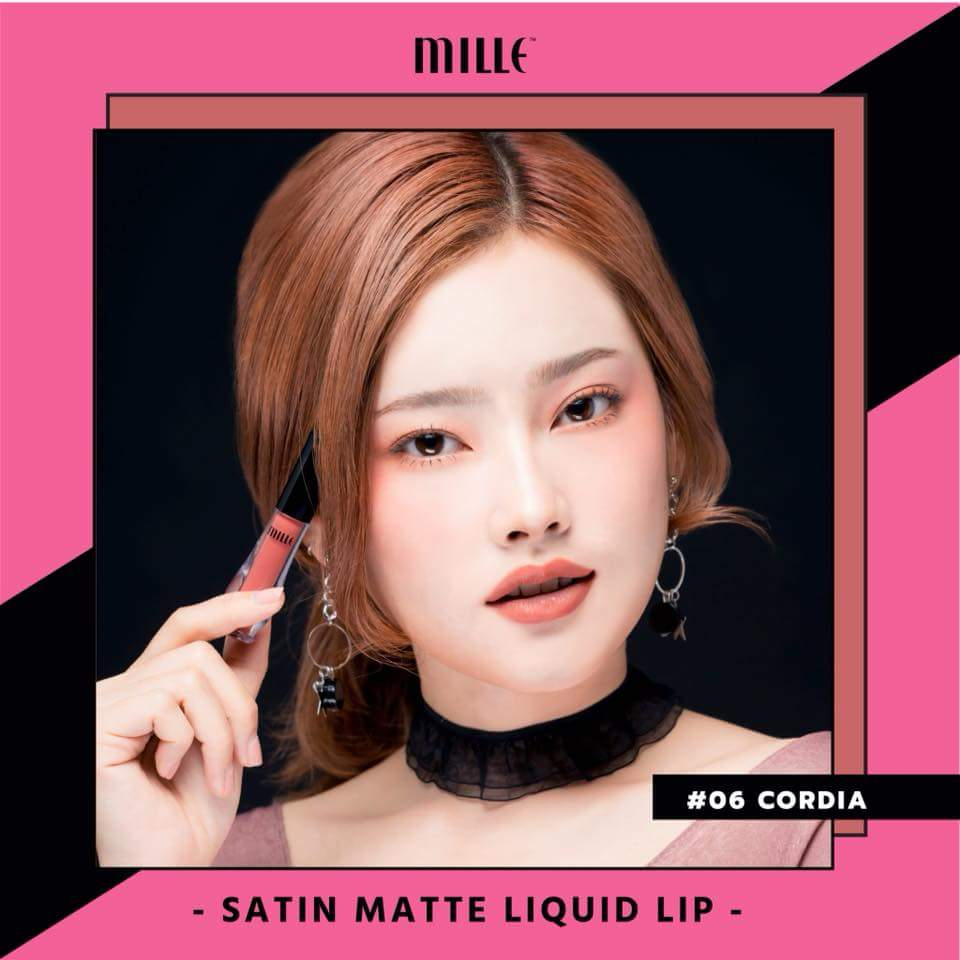 MILLE NEW Satin Matte Liquid Lip #06 Cordia