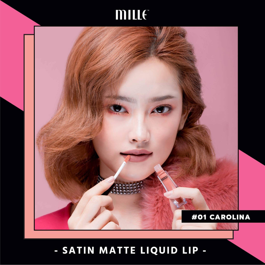 MILLE NEW Satin Matte Liquid Lip #01 Carolina