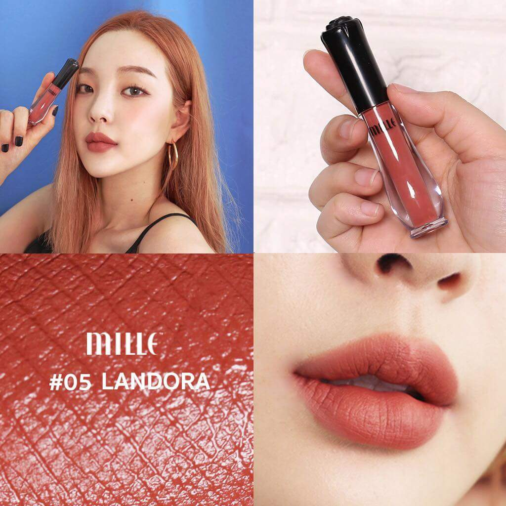 MILLE NEW Satin Matte Liquid Lip #05 Landora