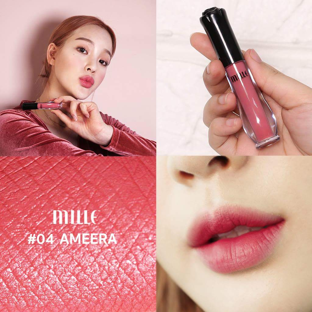 MILLE NEW Satin Matte Liquid Lip #04 Ameera