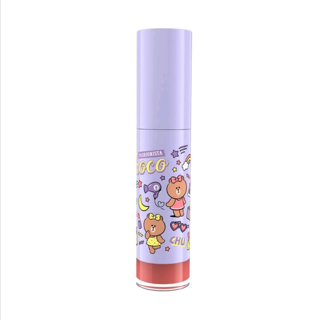 LINE FRIENDS l MILLE ICONIC MATTE LIQUID LIP #03 CHOCO