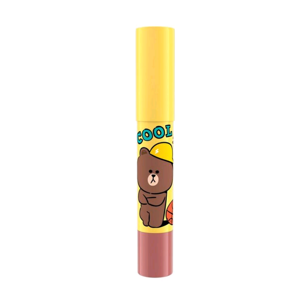 LINE FRIENDS l MILLE ICONIC CRAYON LIP COLOR #01 BROWN