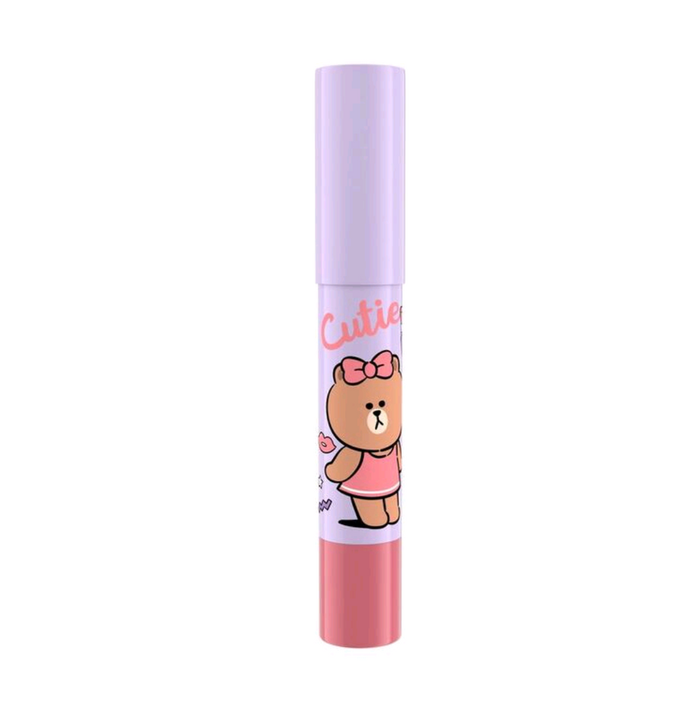 LINE FRIENDS l MILLE ICONIC CRAYON LIP COLOR #03 CHOCO