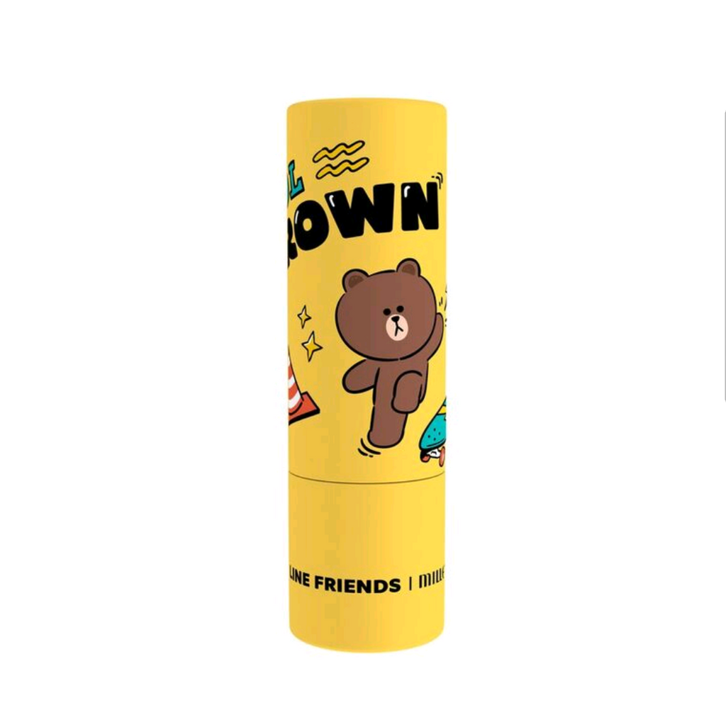LINE FRIENDS|MILLE ICONIC LIP COLOR #01 BROWN