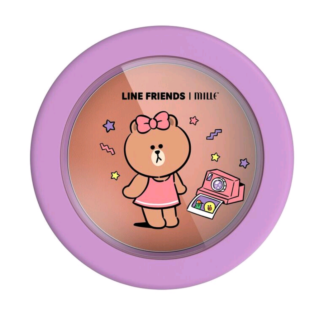 LINE FRIENDS l MILLE LOVABLE BLUSHER #03 CHOCO