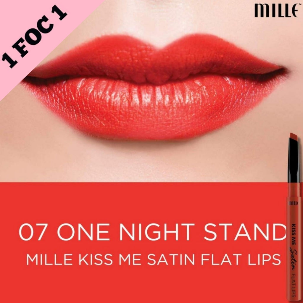 MILLE KISS ME SATIN FLAT LIP  # 07 One Night Stand