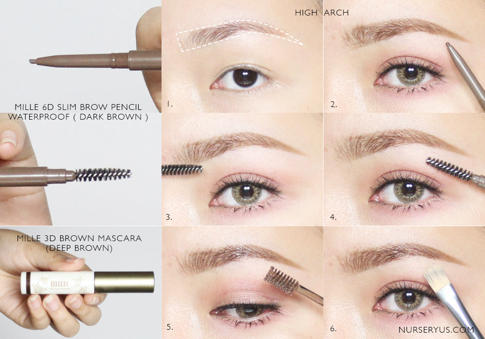 MILLE 6D SLIM BROW PENCIL WATERPROOF