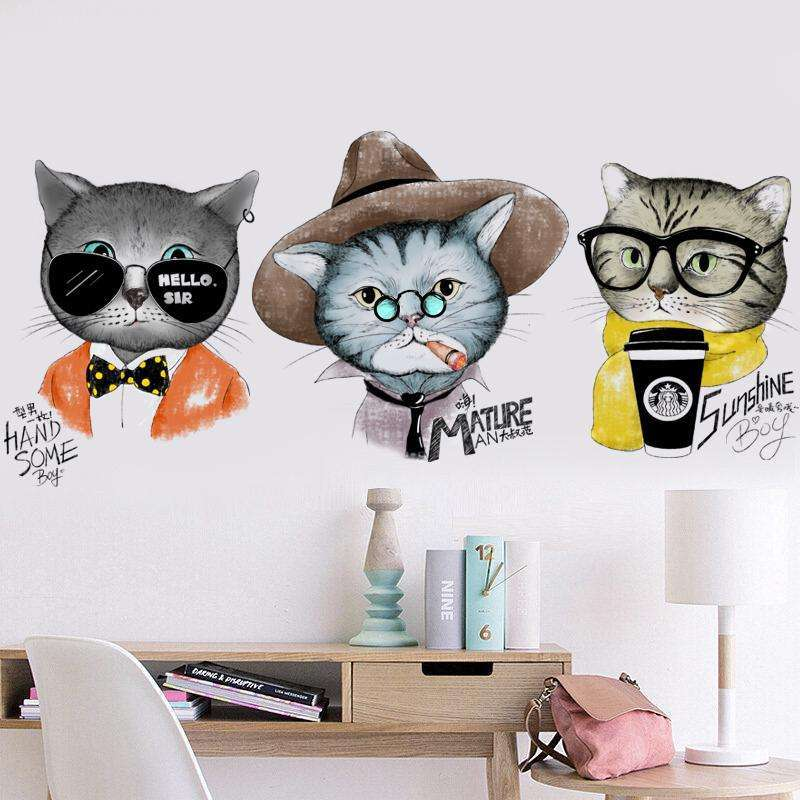 *For Cat Lovers* European Stylish Cat Wall Stickers