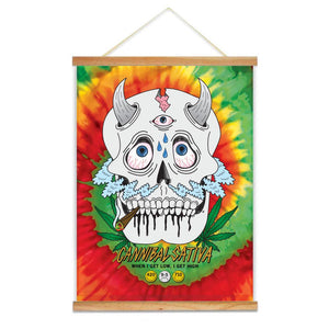 "Canniskull OG Canvas Scroll - 18"" x 24"" - Cannibal Sativa"