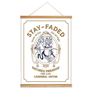 "Stay Faded Zig-Zag Parody Canvas Scroll - 18"" x 24"" - Cannibal Sativa"
