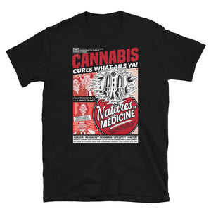 Cannabis Cures T-Shirt - Black - Cannibal Sativa