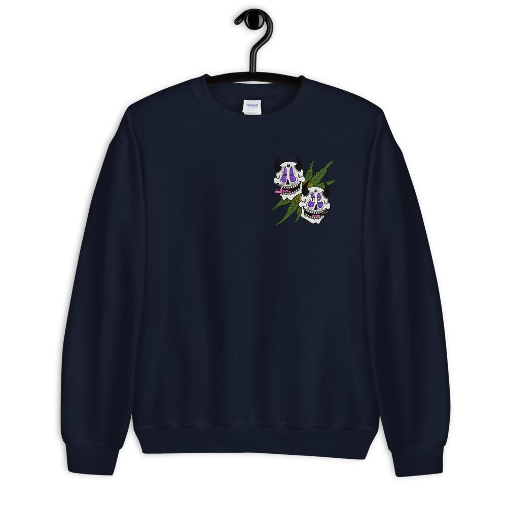 High Now, High Later Sweatshirt - Navy Blue - Cannibal Sativa