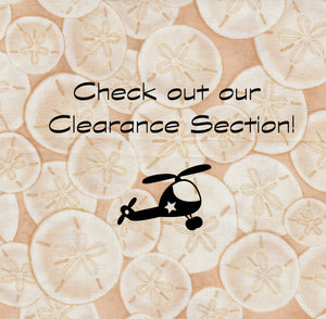 Welcome to the clearance section!  Find some great deals on the fabric you want in this section!
