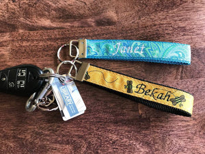 Personalized Key Fob Keychains