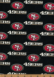 San Fransisco 49ers Football Fabric- NFL -100% Cotton Fabric - by Fabric Traditions
