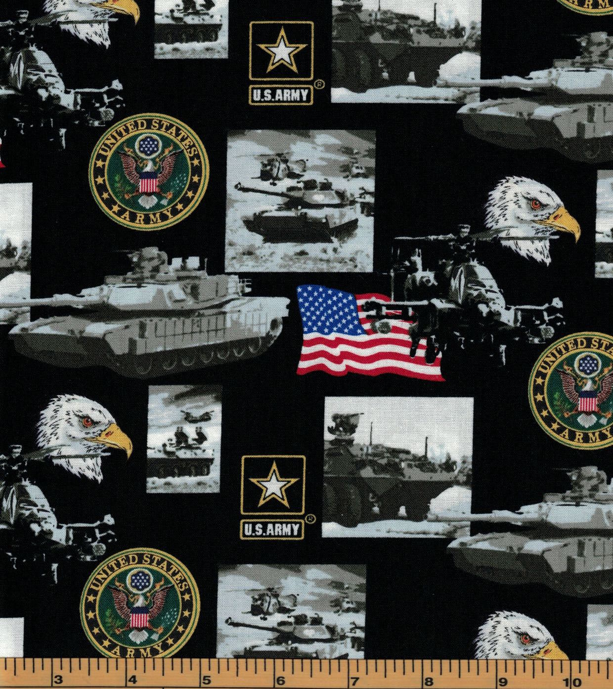 Military Fabric - Army - 100% Cotton Fabric