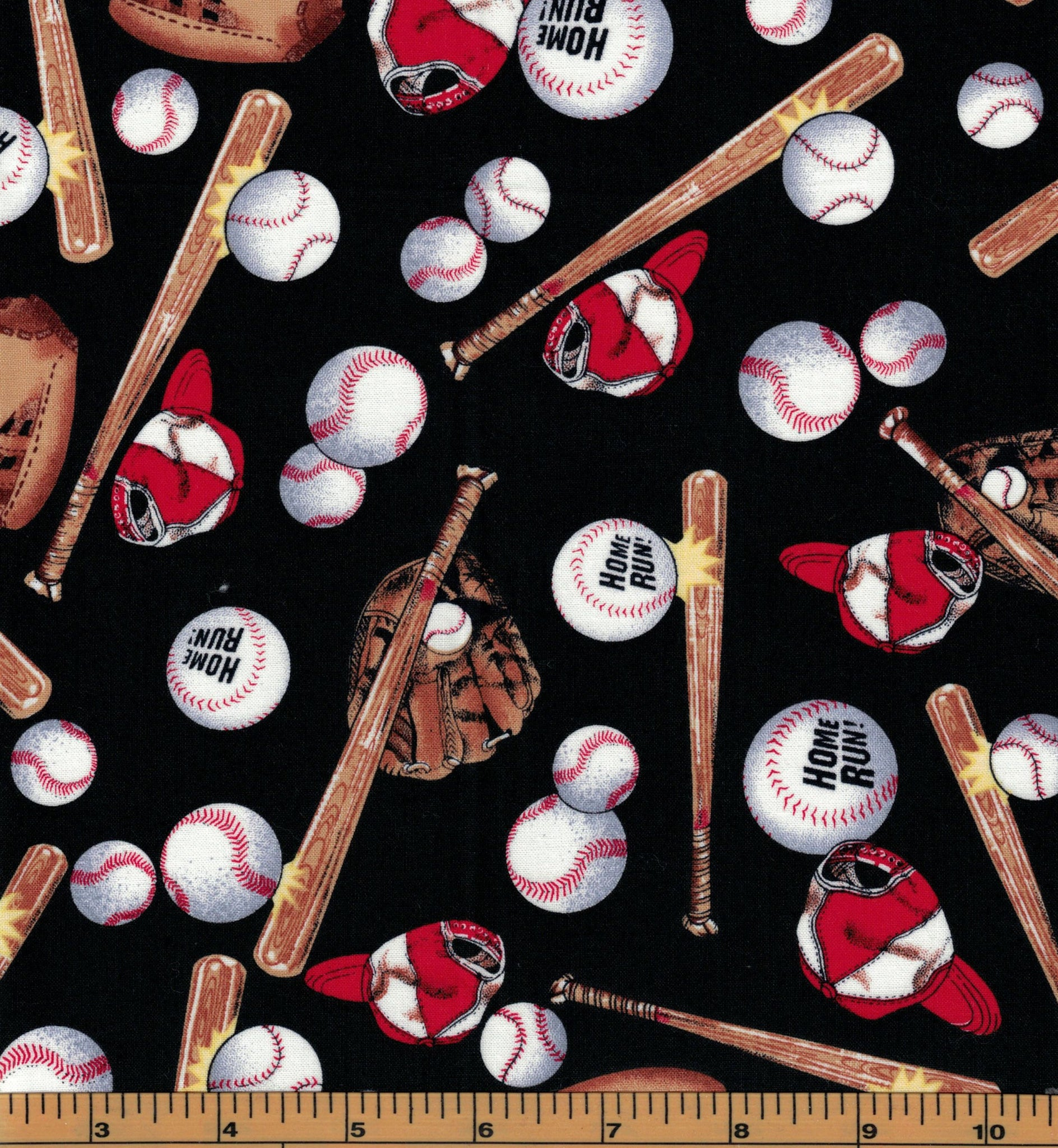 Baseball Fabric - Fat Quarter