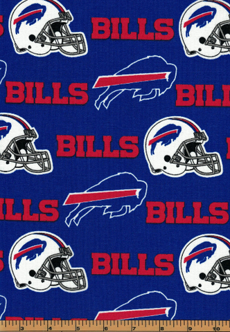 Buffalo Bills Fabric- NFL - 100% Cotton High Quality Fabric- by Fabric Traditions